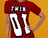 Twin 01 Shirt Red (F)