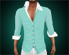 slim shirt aqua/teal