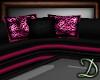 [D] Black/Pink Sofa