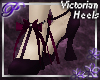 ~P~Victorian Heels -Wine
