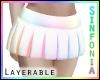 La. Pastel Rainbow Skirt