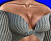 Gray Knit Off Shoulder