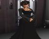 BM Blk long sleeve gown