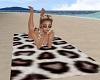 Leopard print beach towe