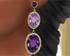 Purple Stones Earrings