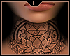 Lotus - F Neck Tattoo