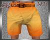 !b Yellow Mango Shorts M