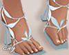 Blue Petal Heels