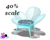 dotty chair blue