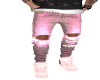 Soft  Pink ripped jeans