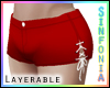 Layer. Blood Red Shorts