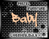 .L. Pastel Baby Sign