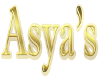 (1M) Asya's gold sign