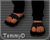 [T] Black Male Sandals