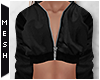 [MESH] Zip Crop Top