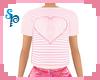 [S] Heart Pink Top