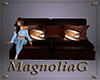 ~MG~ LeatherWood Sm Sofa