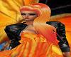 Cheveux long orange