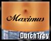 Maximus belly tattoo