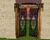 animated iron wood door