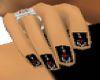 black emo nails