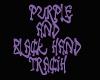 purple and black hand