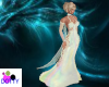 motherofpearl  lace gown