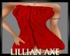 {LA} Red Bath towel