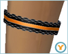 Black/Orange Garter (R)