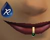 {R} Emerald lip ring