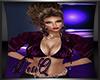 DQ Purple Leather Bolero