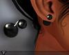 Der. Black Pearl Earring