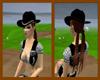 Black Cowgirl Hat ch