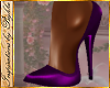 I~Purple Satin Pumps