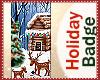Holiday Christmas Badge