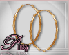 P Dainty Hoops [gold]