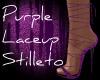 Purple Laceup Stilleto