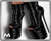 Leather black heels