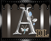 silver letter A
