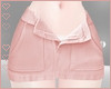 T! Denim Skirt - Peach