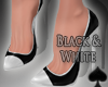 Cat~ Black & White Pumps