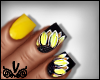 Sunflower Girl Nails $
