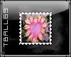 Pink Heart Flower Stamp