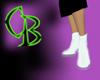 CyberBoi White Heels