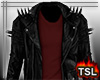 Leather Jacket w Red