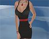 black/ red short dress