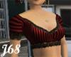 J68 Rita Red Pin Stripes