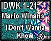 M. Winans:IDontWannaKnow