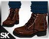 Fall Boots w/Sock Brown