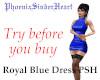 Royal Blue dress PSH